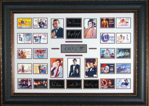 James Bond 007 Collection Replica Autographed Wall Decor