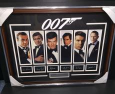 James Bond 007 Laser Engraved Signature Photo Framed Sean Connery Brosnan