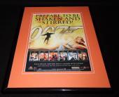 James Bond 2000 DVD Collection Framed 11x14 ORIGINAL Advertisement Sean Connery