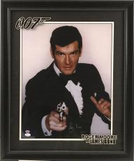 James Bond Autographed by Roger Moore 16x20 with Deluxe Frame