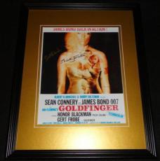 James Bond Goldfinger Signed Framed 8x10 Photo AW Eaton Kwouk & Bricusse