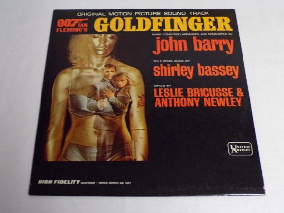 James Bond Goldfinger Soundtrack 1964 ORIGINAL Vintage Vinyl LP Record Album B