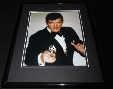 James Bond Roger Moore Framed 8x10 Photo Poster