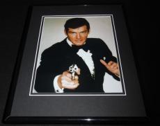 James Bond Roger Moore Framed 8x10 Photo Poster