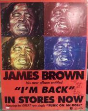 "James Brown ""i Feel Good"" Music Legend Signed Autographed 28x22 Poster Jsa Loa"