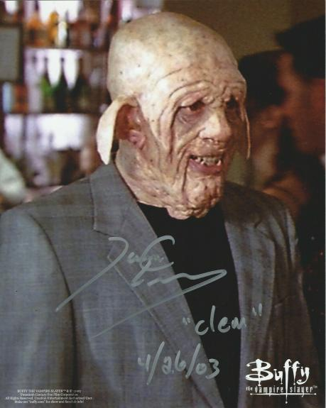 """James C Leary Signed Buffy The Vampire Slayer """"Clem"""" 8x10 Photo #1"""