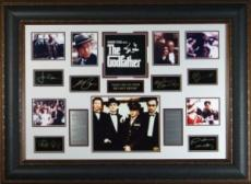 James Caan unsigned The Godfather 27x39 Engraved Signature Series Custom Leather Framed Photo (movie/entertainment)