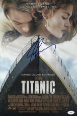 James Cameron Signed Titanic 11 1/2 X 17 Movie Poster Jsa Coa E76891