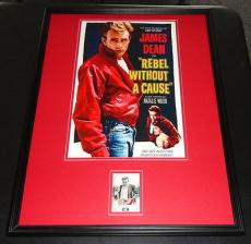 James Dean Framed Personally Worn Swatch Ltd Ed 20/50 Poster Set Celebrity Cuts