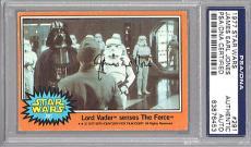 James Earl Jones 1977 Topps Star Wars Signed Auto Psa Dna Slabbed Darth Vader