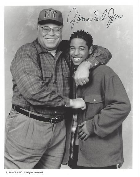 "JAMES EARL JONES as NEB LANGSTON on TV Series ""UNDER ONE ROOF"" Signed 8x10 B/W Photo"