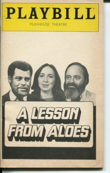 James Earl Jones Athol Fugard A Lesson From Aloes 1980 Opening Night Playbill