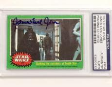 JAMES EARL JONES Autograph DARTH VADER Signed 1977 Topps STAR WARS Card PSA COA