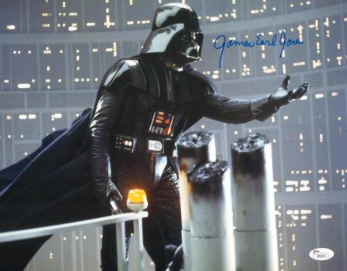 """James Earl Jones Autographed 11"""" x 14"""" Star Wars Darth Vader Arm Out Photograph Signed in Blue - JSA"""