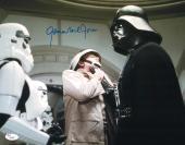 """James Earl Jones Autographed 11"""" x 14"""" Star Wars Darth Vader Chocking Rebel Trooper Photograph Signed in Blue - JSA"""