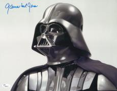 "James Earl Jones Autographed 11"" x 14"" Star Wars Darth Vader Looking Up Photograph Signed in Blue - JSA"