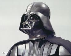 """James Earl Jones Autographed 11"""" x 14"""" Star Wars Darth Vader Looking Up Photograph Signed in Gold - JSA"""