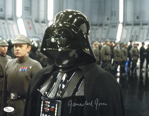 """James Earl Jones Autographed 11"""" x 14"""" Star Wars Darth Vader On Ship Photograph Signed in Silver - JSA"""