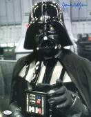 "James Earl Jones Autographed 11"" x 14"" Star Wars Darth Vader Point Photograph Signed in Blue - JSA"