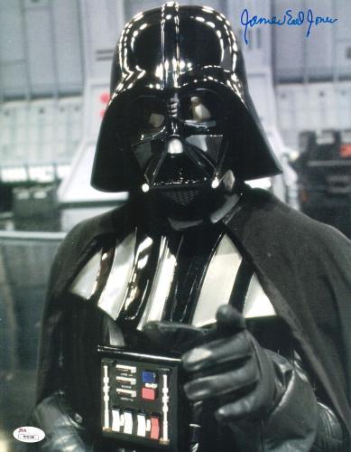 "James Earl Jones Autographed 11"" x 14"" Star Wars Darth Vader Point Photograph Signed in Blue - JSA"