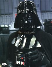 """James Earl Jones Autographed 11"""" x 14"""" Star Wars Darth Vader Point Photograph Signed in Gold - JSA"""