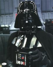"James Earl Jones Autographed 11"" x 14"" Star Wars Darth Vader Point Photograph Signed in Silver - JSA"