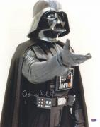 "James Earl Jones Autographed 11"" x 14"" Star Wars Darth Vader Raising Hand Photograph - PSA/DNA COA"