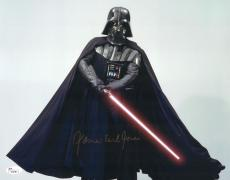 "James Earl Jones Autographed 11"" x 14"" Star Wars Darth Vader Saber Down Photograph Signed in Gold - JSA"