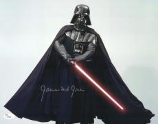 "James Earl Jones Autographed 11"" x 14"" Star Wars Darth Vader Saber Down Photograph Signed in Silver - JSA"