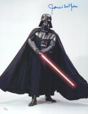 """James Earl Jones Autographed 11"""" x 14"""" Star Wars Darth Vader Saber Down Vertical Photograph Signed in Blue - JSA"""
