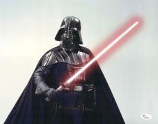 """James Earl Jones Autographed 11"""" x 14"""" Star Wars Darth Vader Saber Up Photograph Signed in Gold - JSA"""