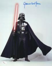 "James Earl Jones Autographed 11"" x 14"" Star Wars Darth Vader Saber Up Vertical Photograph Signed in Blue - JSA"