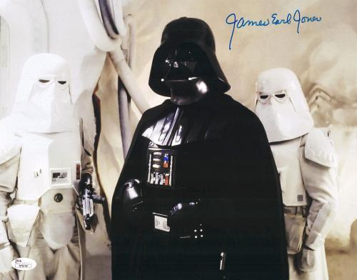 """James Earl Jones Autographed 11"""" x 14"""" Star Wars Darth Vader with Storm Toppers Photograph - JSA"""