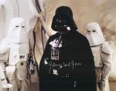 """James Earl Jones Autographed 11"""" x 14"""" Star Wars Darth Vader with Storm Toppers Photograph Signed in Silver - JSA"""
