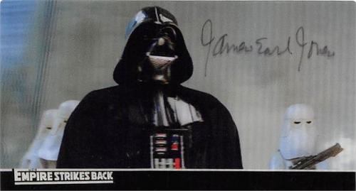 James Earl Jones autographed trading card (Star Wars Darth Vader Empire Strikes Back SC) 2010 Topps #15 Widevision 3D