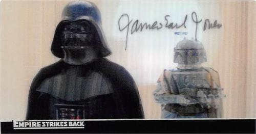 James Earl Jones autographed trading card (Star Wars Darth Vader Empire Strikes Back SC) 2010 Topps #32 Widevision 3D motion