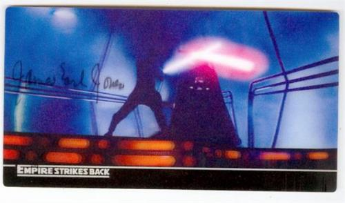 James Earl Jones autographed trading card (Star Wars Darth Vader Empire Strikes Back SC) 2010 Topps #40 Widevision 3D motion