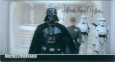 James Earl Jones autographed trading card (Star Wars Darth Vader Empire Strikes Back SC) 2010 Topps #46 Widevision 3D