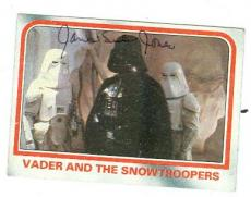 James Earl Jones autographed trading card (Star Wars Empire Strikes Back Darth Vader SC) 1980 Topps #50