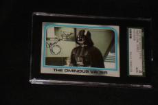 James Earl Jones (darth Vader) 1980 Topps Star Wars Signed Auto Card Sgc Slabbed