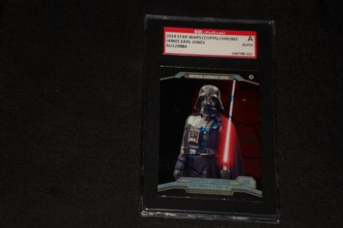 James Earl Jones (darth Vader) 2014 Topps Chrome Star Wars Signed Auto Card Sgc