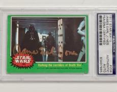 JAMES EARL JONES Darth Vader Autograph Signed 1977 Topps STAR WARS Card PSA Auto