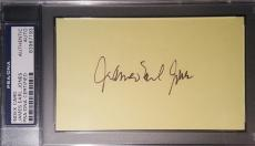James Earl Jones Darth Vader Star Wars Signed 3x5 PSA/DNA AUTHENTIC AUTO