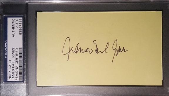 James Earl Jones Darth Vader Star Wars Signed 3x5 PSA/DNA AUTHENTIC AUTO