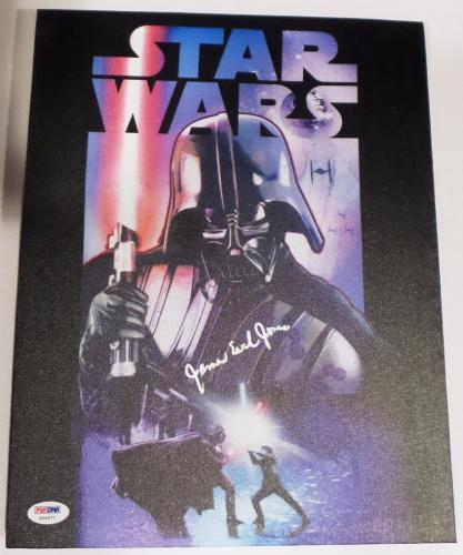 James Earl Jones Darth Vader Star Wars Signed Autographed Canvas PSA X60677
