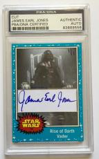 James Earl Jones Darth Vader STAR WARS Signed Custom CARD #'d 1/1 PSA/DNA (A)