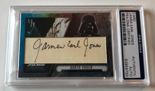 James Earl jones Darth Vader STAR WARS Signed Custom CARD #d 1/1 PSA/DNA Slabbed