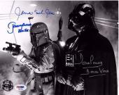 JAMES EARL JONES, DAVE PROWSE & JEREMY BULLOCH Signed 8x10 Photo PSA/DNA #X81631