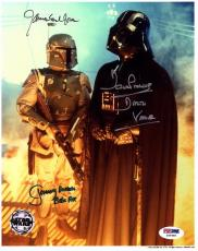 JAMES EARL JONES, DAVE PROWSE & JEREMY BULLOCH Signed 8x10 Photo PSA/DNA #Z49486