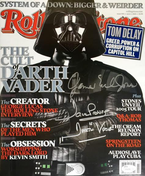 James Earl Jones Dave Prowse Rolling Stone Signed NL Magazine Jsa